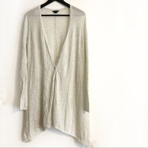 Theory Long Sleeve Cashmere Button Up Cardigan